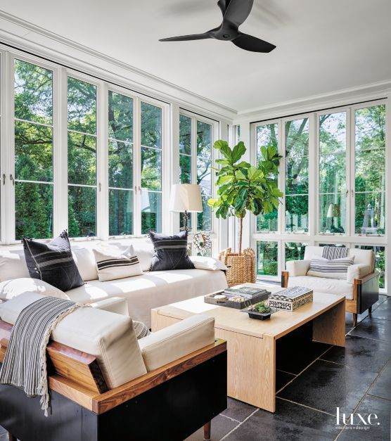 Three Season Sunroom with Country Feel | LuxeSource | Luxe Magazine - The Luxury Home Redefined