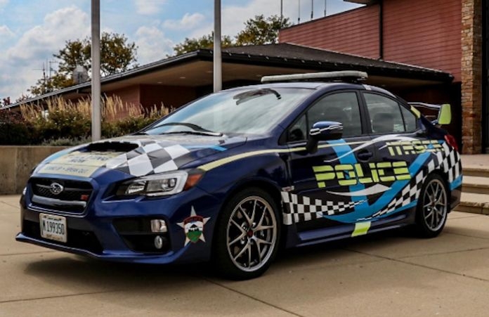 2018 Subaru WRX STI, Itasca police