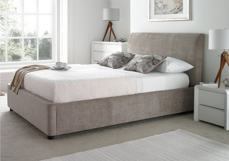 serenity upholstered ottoman storage bed - grey 3