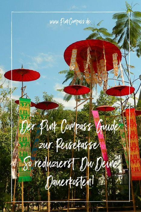 Der Pink Compass Guide zur Reisekasse: So reduzierst Du Deine Dauerkosten! via @Carina Herrmann Autorin & Digitale Nomadin
