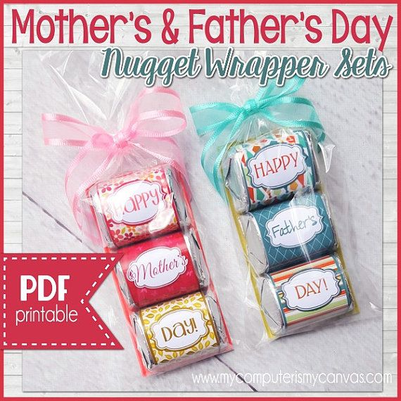Nugget Gift Ideas Apparel: Happy Mother's Day And Happy Father's Day MINI Nugget