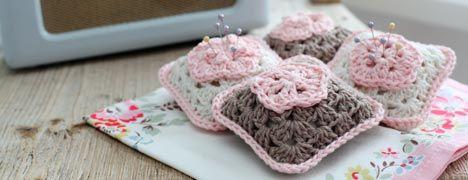 Free Crochet Pattern - Granny Square Pincushion
