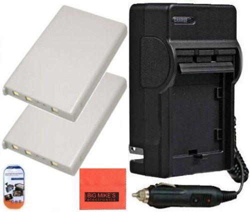 Pack Of 2 EN-EL5 Batteries & Battery Charger Kit for Nikon Coolpix P80 P90 P100 p500 P510 P520 Digit