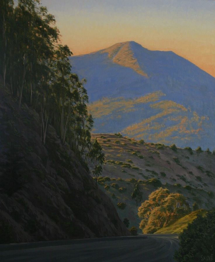 """""""Into Mill Valley"""" is now available as a limited edition fine art giclee print! Northern California landscape painting, California, Mill Valley, Marin County, Marin County landscape, Marin County landscape painting, Marin hills, Marin woods, Marin road, Marin drive, Mill Valley woods, Mill Valley road, Mill Valley landscape, California landscape, country drive, oil painting, fine art, giclee print, art lover, Terry Sauve, terrysauve.com"""