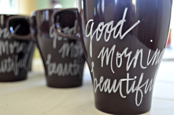 DIY Painted Mugs That Won't Wash Away - Finally, a marker for DIY mugs that REALLY is permanent after you bake it! Really! Plus some other mug making tips.