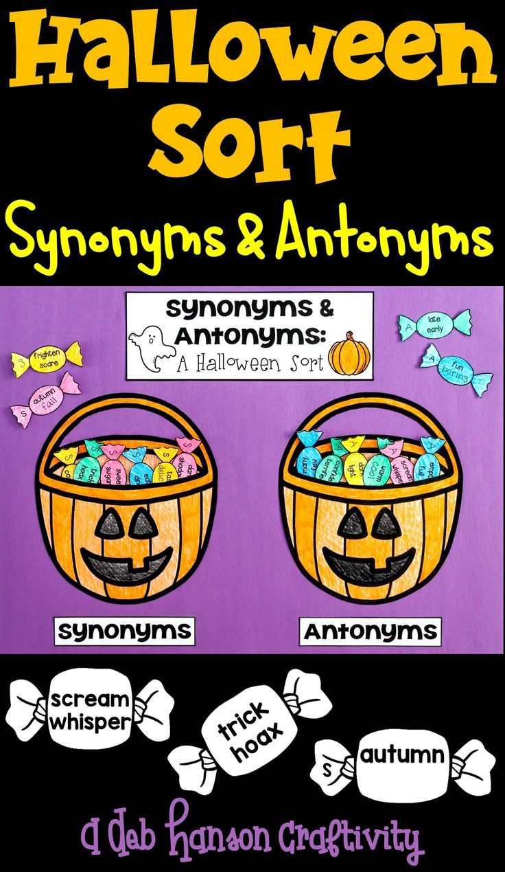 Worksheet Trial Antonym 1 000 ideen zu synonym auf pinterest antonym halloween sort students analyze word relationships and classify each pair as synonyms or