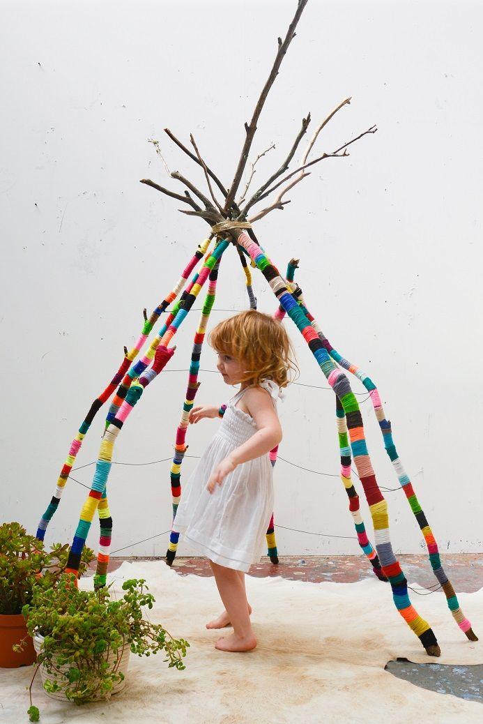 yarn wrapped tee pee by natalie miller