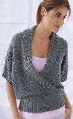 Sál galléros rövid ujjú pulóver
