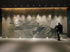 Stone Wall (-sou-) Tags: woman building girl rock japan stone wall architecture tokyo interior nihonbashi stonewall coredo superpotato lightwall