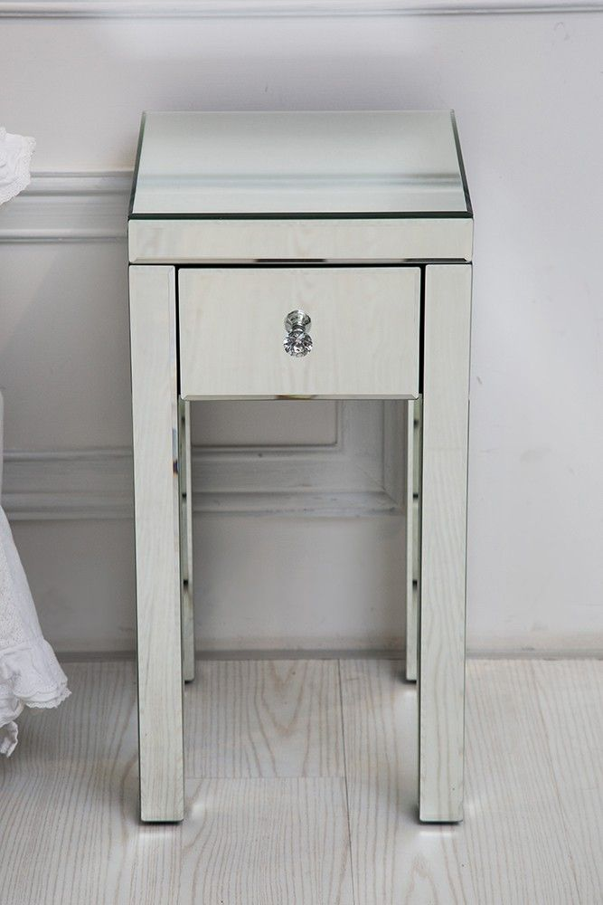 This Elegant And Contemporary Tall Bedside Table With Single