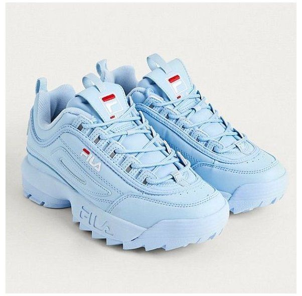 Blue Shoes Sneakers Fila Shoes Fila Disruptor Sneakers Baby Blue Trainers 8 5 Color Blue Size 8 5 Blue Sneakers Baby Blue Shoes Womens Sneakers