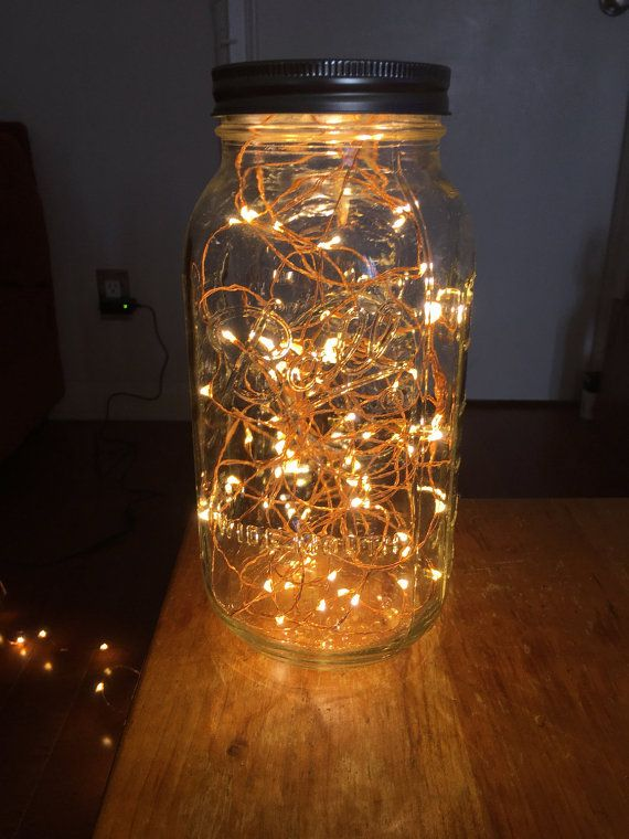 Plug in copper wire fairy light Mason Jar Lamp, lantern, table lamp, glass lamp wedding lantern string light, bedroom furniture, centerpiece