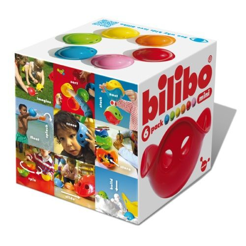 The only limit is your imagination! The Bilibo Minis come in a box of 6 with 1 each of red, yellow, green, blue, orange and pink.