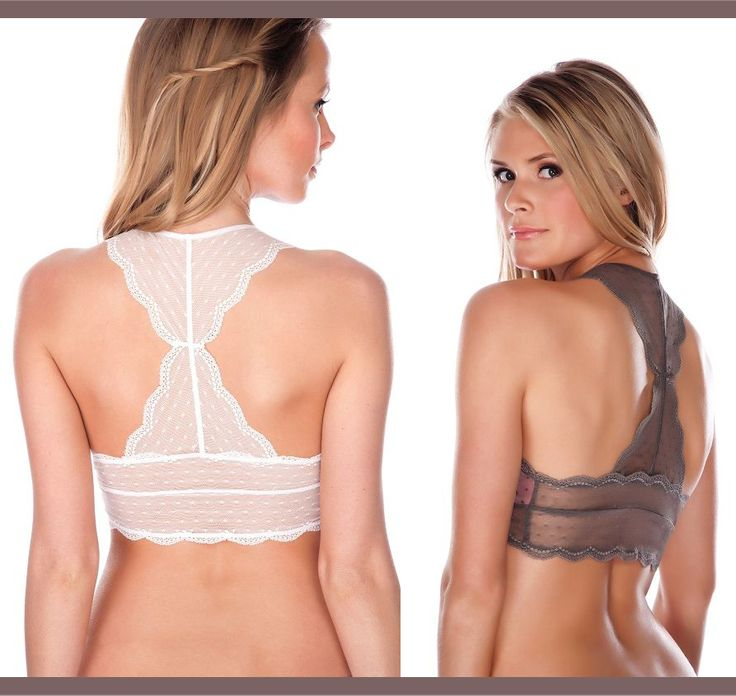 Adorable Lace Back Bralettes These Look So Comfy And