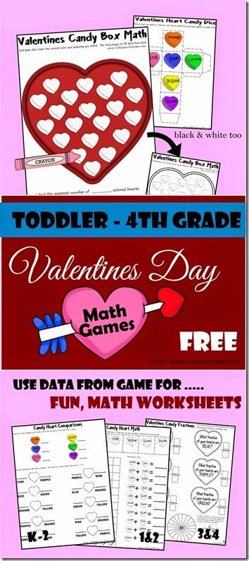 Valentines Candy Box Math (FREE Printable Game)