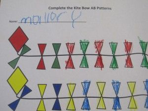 Pattern ideas with letter K. And a great blog on teaching preschool.