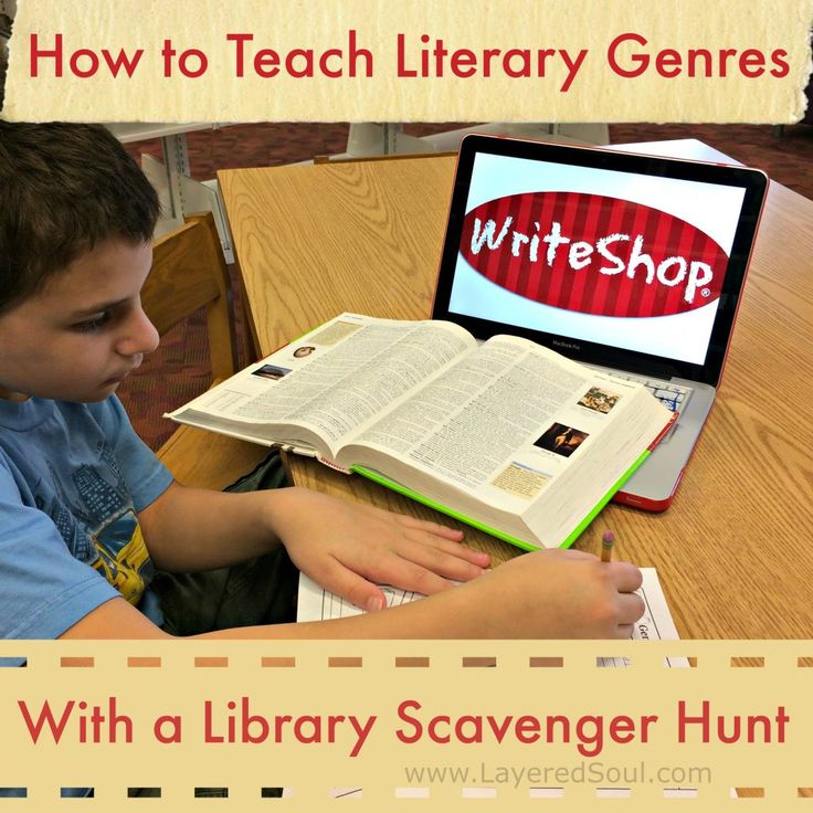 How to Teach Literary Genres with a Library Scavenger Hunt - Layered Soul Homeschool