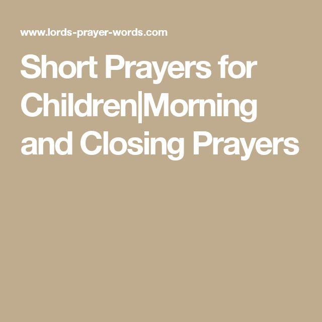 Short Simple Prayer Quotes: The 25+ Best Closing Prayer Ideas On Pinterest