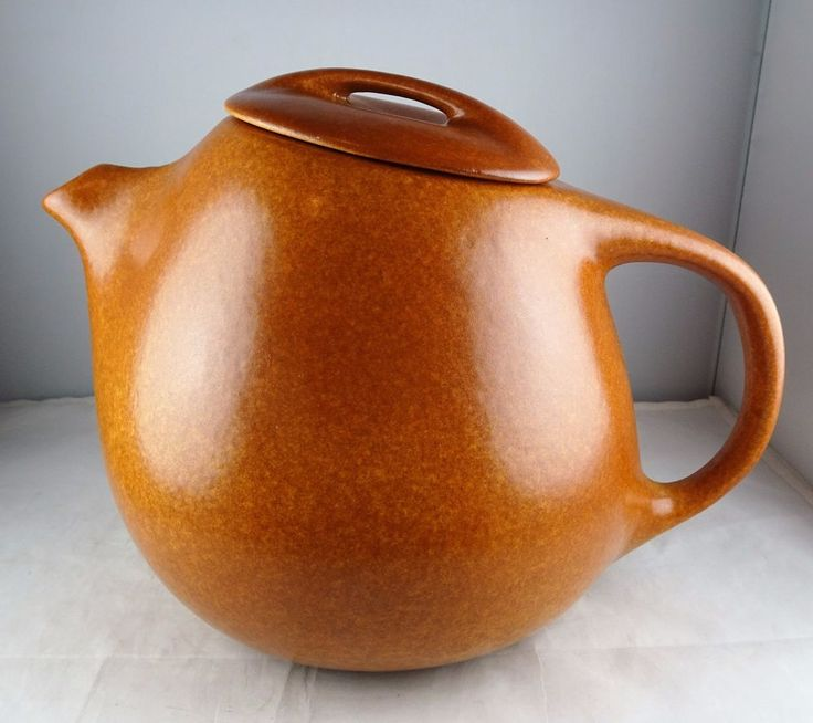 Roseville Raymor Terra Cotta Mid Century Modern Teapot #174 Ben Seibel Design