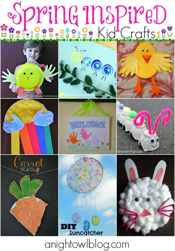 Spring Inspired Kids Crafts - such a great list of things to do with your kids this Spring!