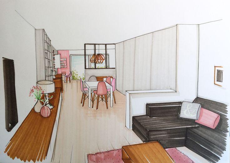17 meilleures id es propos de dessin perspective sur pinterest perspective l 39 architecture Perspectives deco