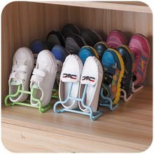 Plastic Shoe Storage Box 2 in 1 Function 2 Pieces/Lot Modern Shoe Hanger(China (Mainland))