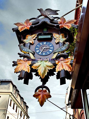 Worlds Largest Cuckoo Clock On Display In St Goar, Rhineland, Germany, Europe