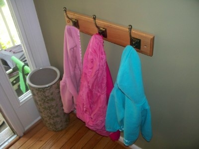 Kids hang their own coats