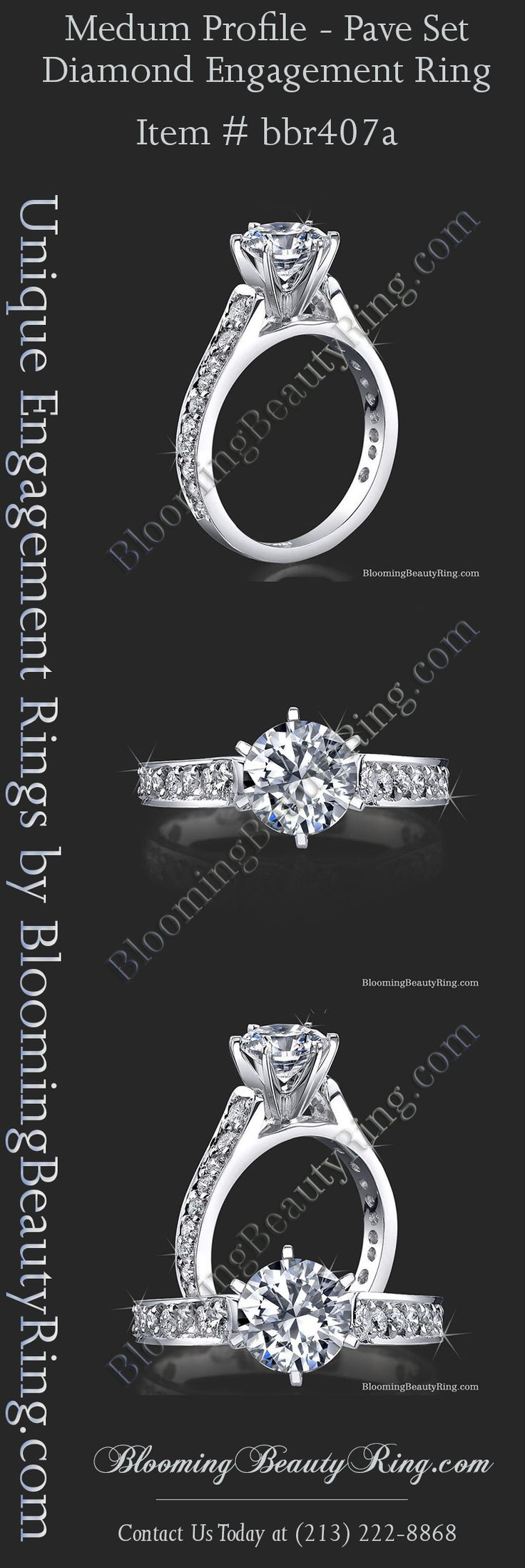 Custom Diamond Engagement Ring Hand Made In The USA Anyway You Order It!  Choose
