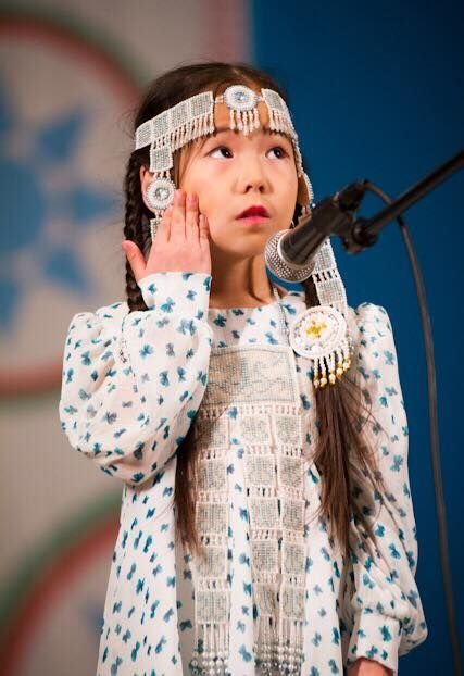 Traditional dressed cute Sakha-Turk girl from Yakutsk (capital & largest city of Sakha-Republic, Northeast-Siberia, Turan). The Sakhas are also falsely known as Yakuts!
