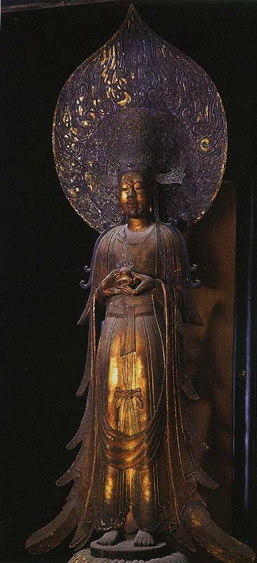 建築,成為腳趾的中心Yumedono(Yumedono)。神社,聖德太子的生活,並告訴木製雕像Hibutsu-Kusekan'non(Guzekan'non)圖像(飛鳥時代)中心的八角六角大樓和一個供奉,觀音菩薩像(平安時代)是它周圍,和漆的Yukinobu主教圖像(奈良時代),(使用泥塑)雕像Michisen的執政期間,如被奉祀在平安時代(平安時代)提出Yumedono的修復。這Yumedono由走廊和麗,做到這一點被修改的內門(鎌倉時代)所包圍,只是作為名人堂的追悼會在聖德太子,也就是據說觀音,神秘氣息的空氣的化身。Kusekan'non <文件>(和點擊放大的照片。)
