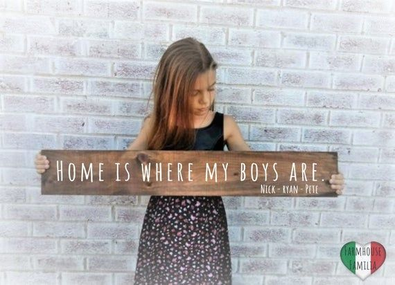 Home is where my boys are sign, Mom of boys sign, boy mom gift, Mother of boys gift, mother of boys sign, Mothers day gift from sons