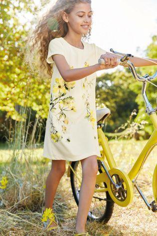 Viacfarebná - Kvietkované šaty s potlačou (3 – 16 rok.)