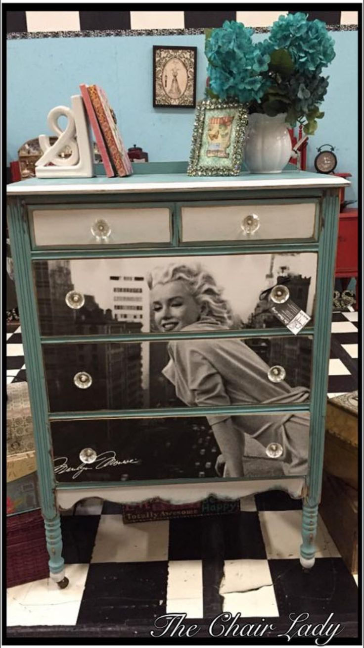 Marilyn Monroe dresser done By The Chair Lady in Clarksville, TN!