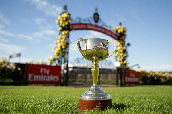 The Melbourne Cup is on display on Melbourne Cup Day at Flemington Racecourse. 2014