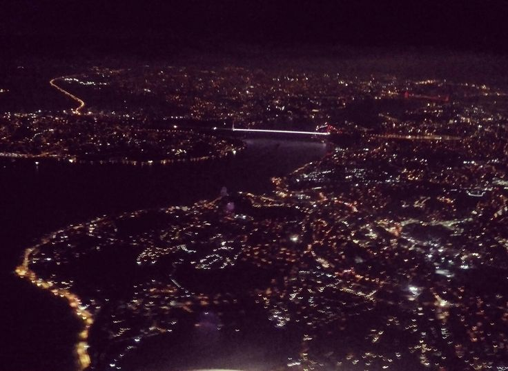 Early morning, landing  in Istanbul