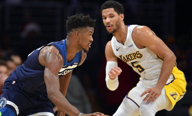 In Considering Kawhi Leonard Trade Lakers Can Learn From Timberwolves Experience With Jimmy Butler Lakers Free Agent Leonard
