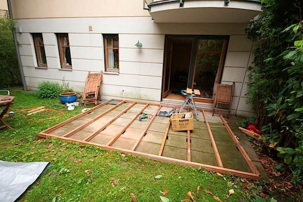 low deck designs | How to Building a Deck on the Ground ... on Low Cost Backyard Patio Ideas id=60620