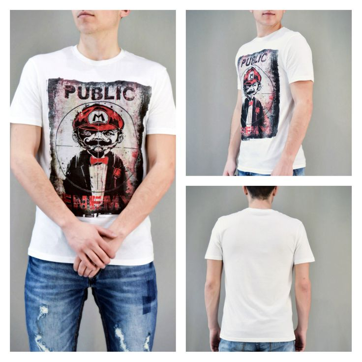 Look of the day: PUBLIC ENEMY!!! Ανδρικό t-shirt Super Mario Public Enemy.  ‪#‎metaldeluxe‬ ‪#‎men‬ ‪#‎mensclothes‬ ‪#‎mensfashion‬ ‪#‎menstshirt‬ ‪#‎menstyle‬ ‪#‎fashion‬ ‪#‎shopping‬ ‪#‎onlineshopping‬ ‪#‎tshirt‬ ‪#‎super_mario‬ ‪#‎public_enemy‬ ‪#‎white‬ ‪#‎summer‬