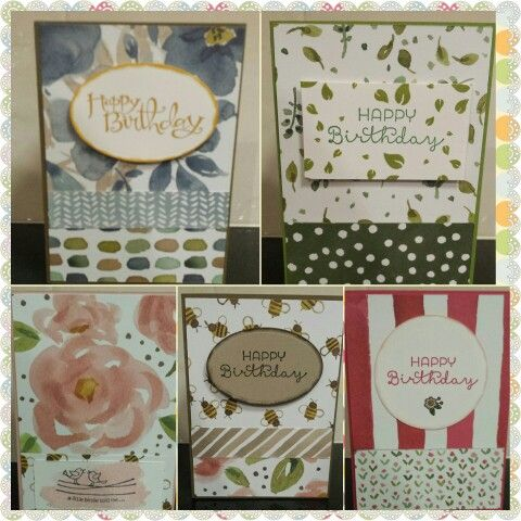 A collection of cards using Stampin' Up! English Garden DSP