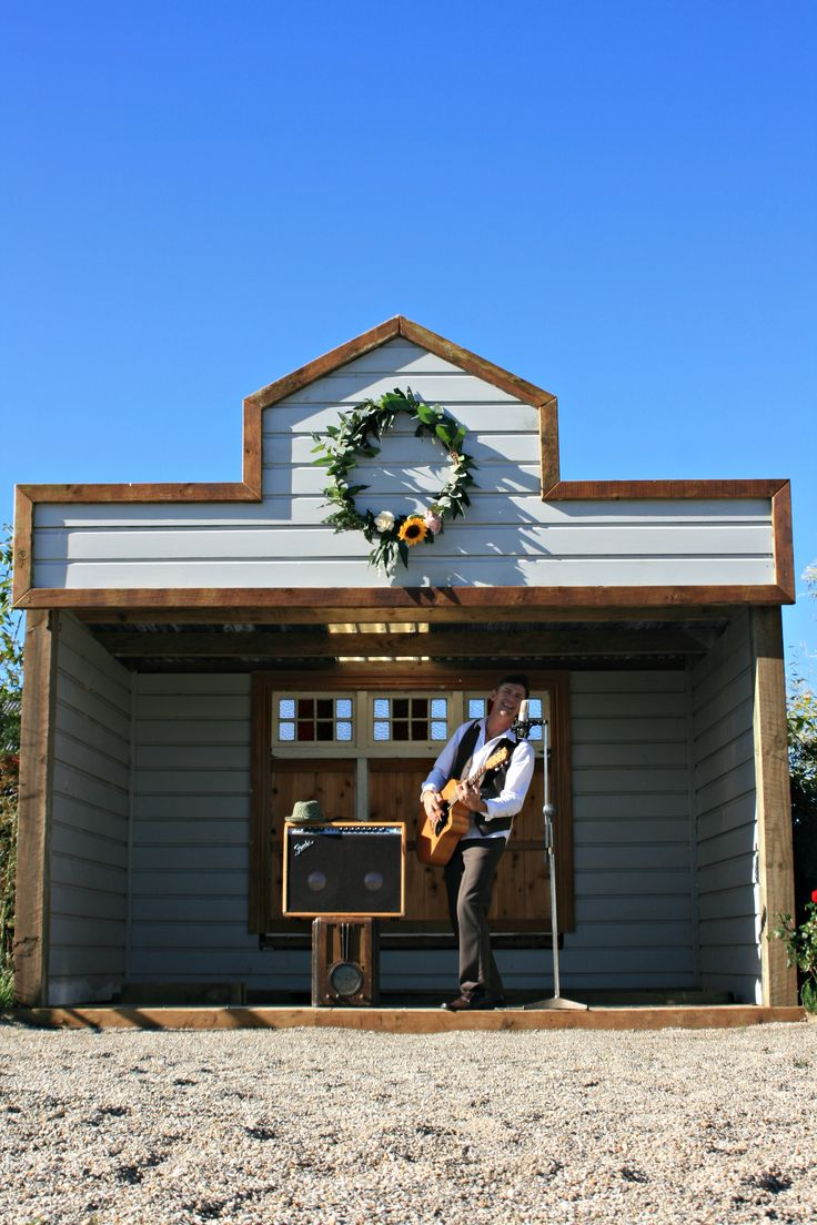 The Love Shack - an outdoor stage for your afternoon entertainment - signing of the register or wedstival fun. The Hall boutique Country wedding Venue. Matamata New Zealand