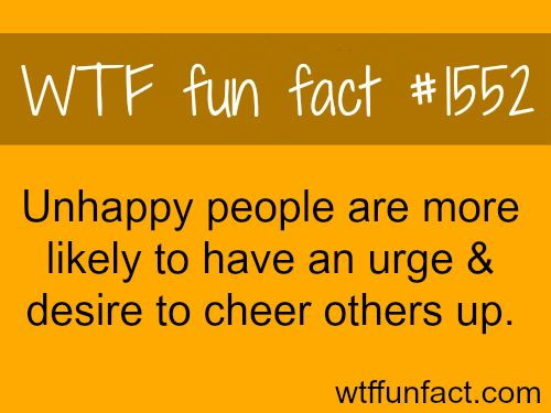 Unhappy people facts - wtf fun facts