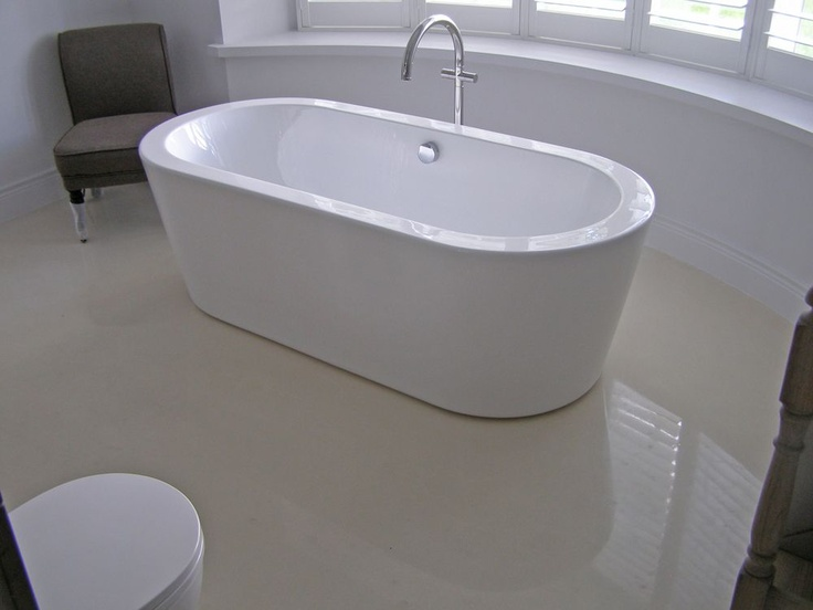 42 best images about polished concrete on pinterest for Concrete bathroom floor