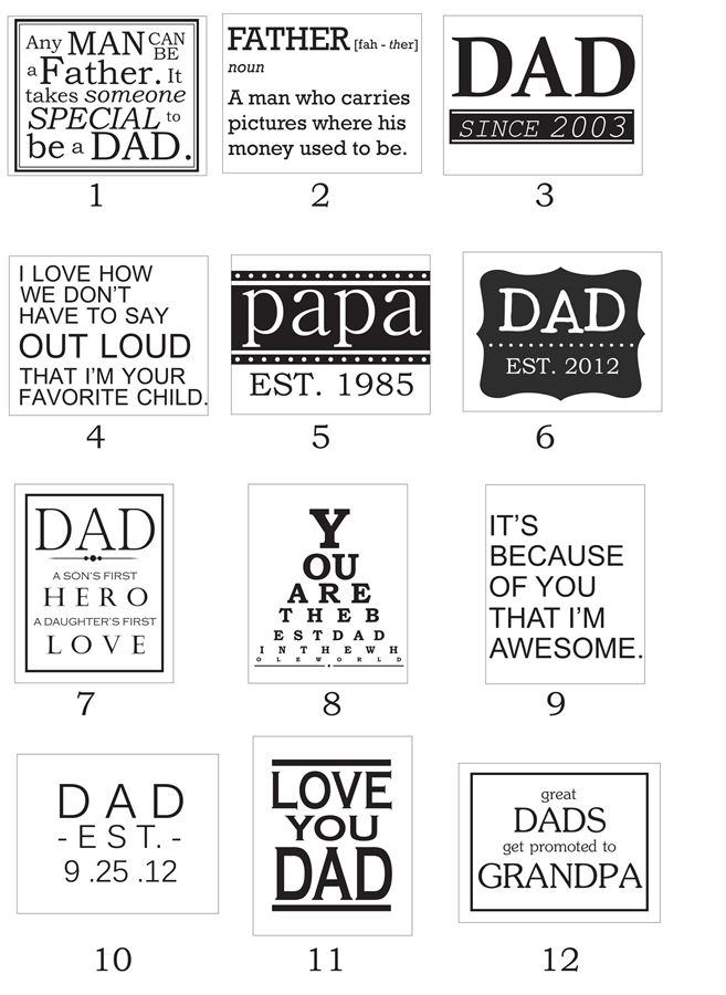 Father's Day Vinyl Designs! | Very Jane