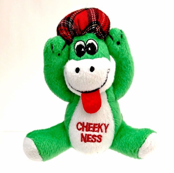 Cheeky Ness Plush soft toy Teddy Lockness Monster wearing tartan plaid hat cap