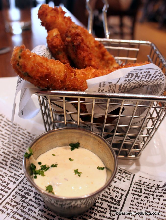 Fried Pickles and Dipping Sauce at Carnation Cafe, the best food we went twice when we were there