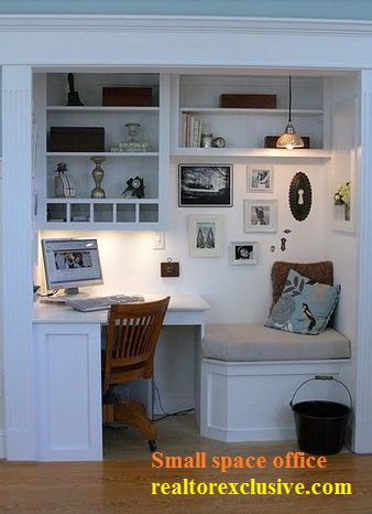 Use  your space, small space office idea.  Realtor Exclusive specializes in the management of single family homes, multi-unit dwellings and small apartment buildings. Our business is designed to tailor an individual program that will suit your property management needs. For more updates realtorexclusive.com #RealtorExclusive #RealEstate #Home #DecorIdeas Find Realtor Exclusive: 1700 S Dixie Hwy, Boca Raton, Fl, 33432 T: (954) 225 - 2979 F: (954) 532 - 4238