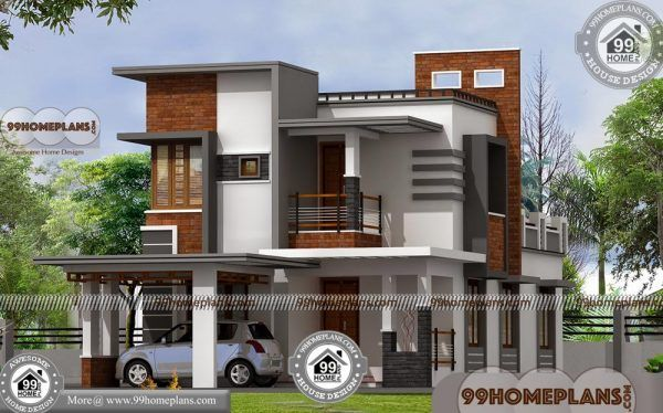 Indian House Front Elevation Designs Two Story Duplex Home Pictures Simple House Design Duplex House Design House Front Design