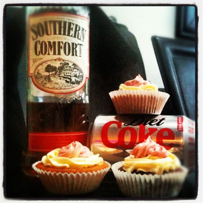 Southern comfort and diet coke cupcakes