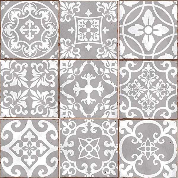 Alwayspon Floor Wall Tile Transfers Sticker For Home Decor Peel Stick Self Adhesive Splashback Tile Decals In 2020 Stick On Wall Tiles Wall Tiles Traditional Tile